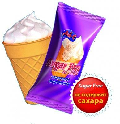 Мороженое пломбир с сорбитом с ароматом ванилина (без сахара)в ваф. ст.